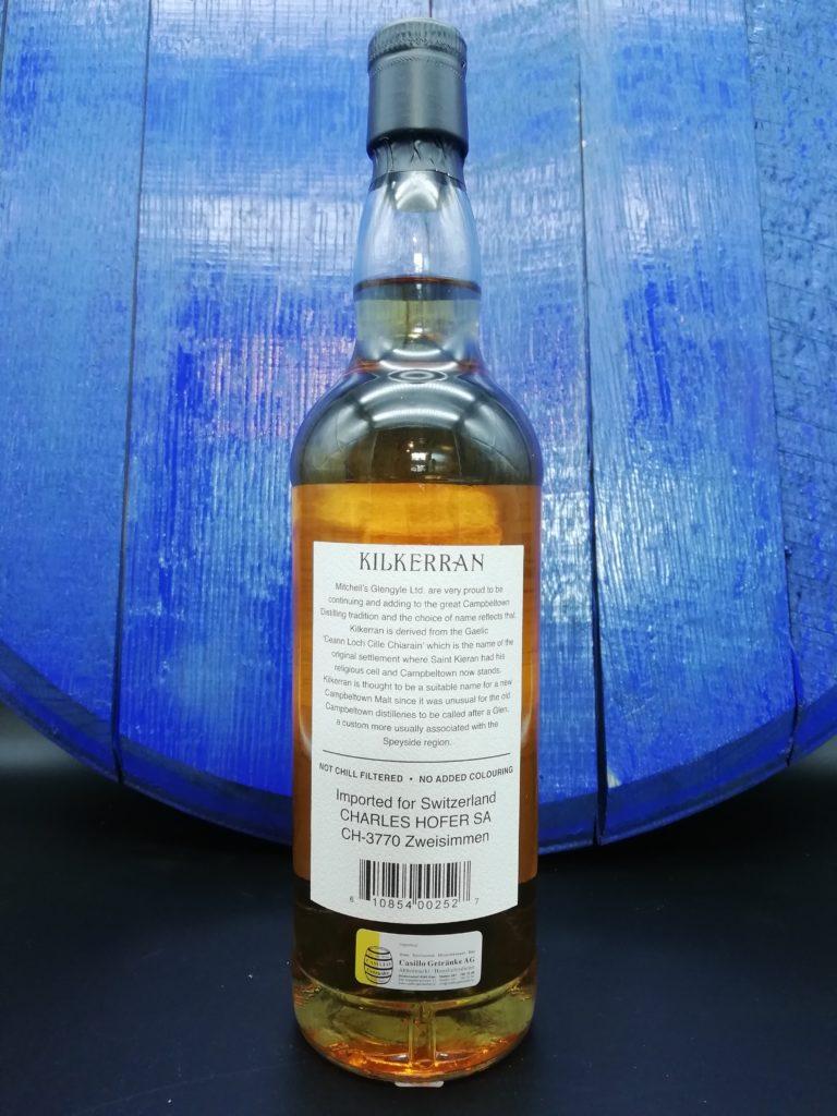 Kilkerran 12 Jahre Schweiz Import Label