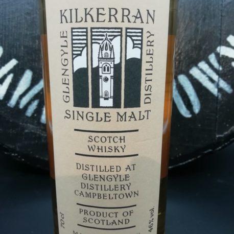 Kilkerran Work in Progress  WIP 4 orange front label