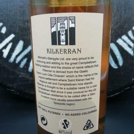 Kilkerran Work in Progress  WIP 4 orange back label