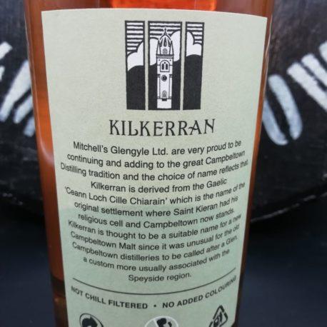 Kilkerran Work in Progress  WIP 3 Green back label