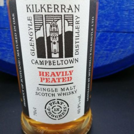 Kilkerran Heavily Peated Batch 2 front view detail